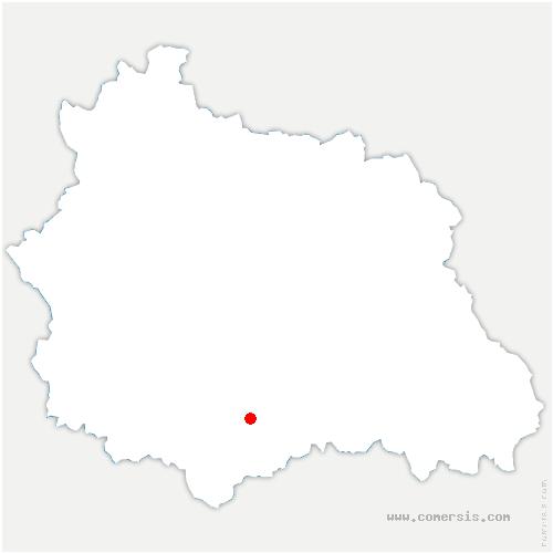carte de localisation de Ternant-les-Eaux