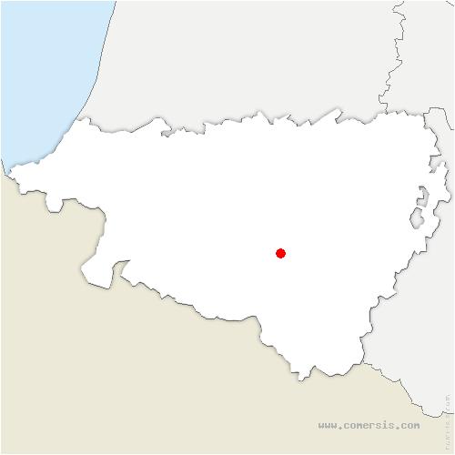 carte de localisation de Ance Féas