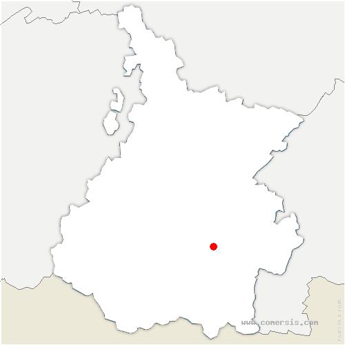 carte de localisation de Ancizan