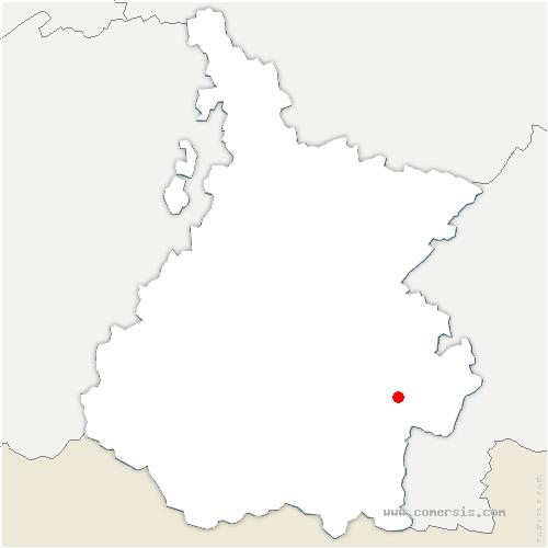 carte de localisation de Ardengost