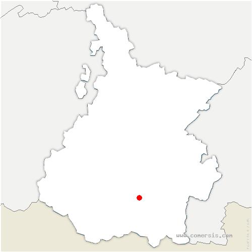 carte de localisation de Aulon