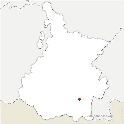 carte de localisation de Bazus-Aure