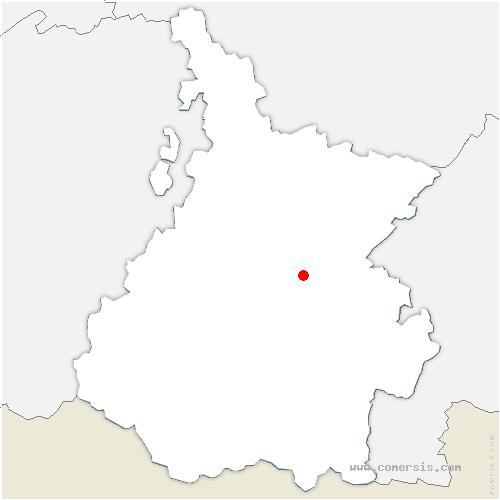 carte de localisation de Benqué-Molère