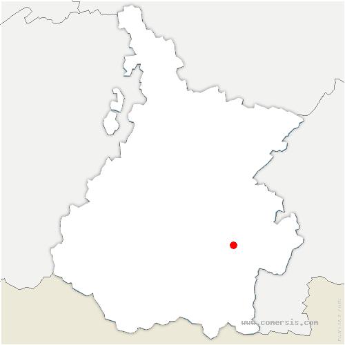 carte de localisation de Beyrède-Jumet-Camous