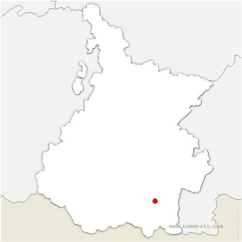 carte de localisation de Bourisp