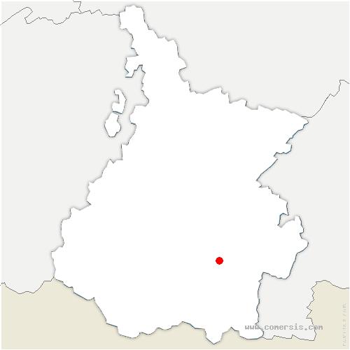 carte de localisation de Cadéac