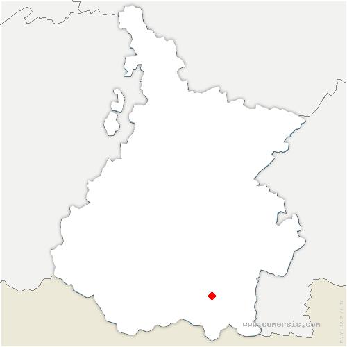 carte de localisation de Cadeilhan-Trachère
