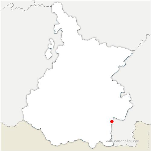 carte de localisation de Cazaux-Fréchet-Anéran-Camors