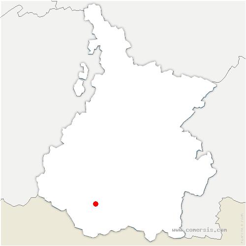 carte de localisation de Gavarnie-Gèdre