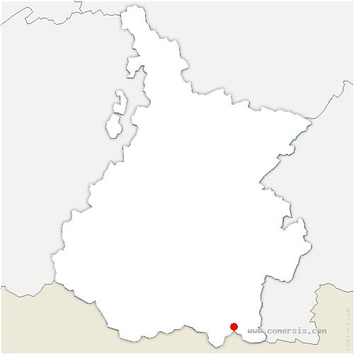 carte de localisation de Génos