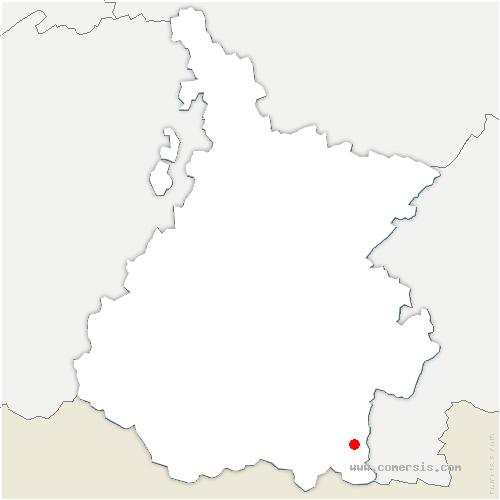 carte de localisation de Loudenvielle