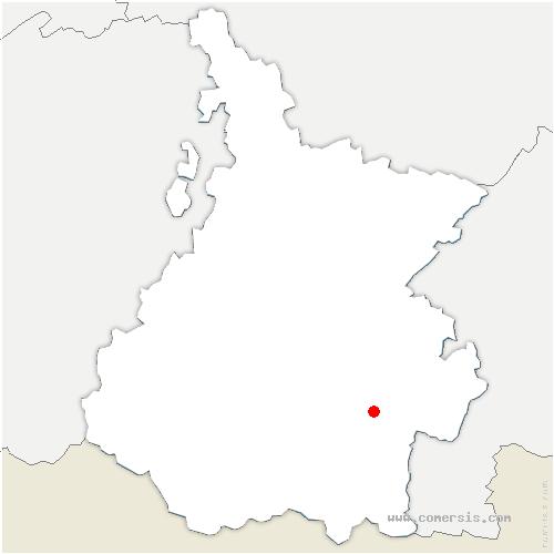 carte de localisation de Pailhac