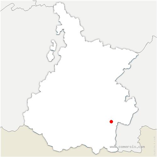 carte de localisation de Ris
