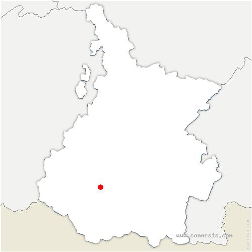 carte de localisation de Saligos