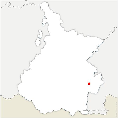 carte de localisation de Sarrancolin