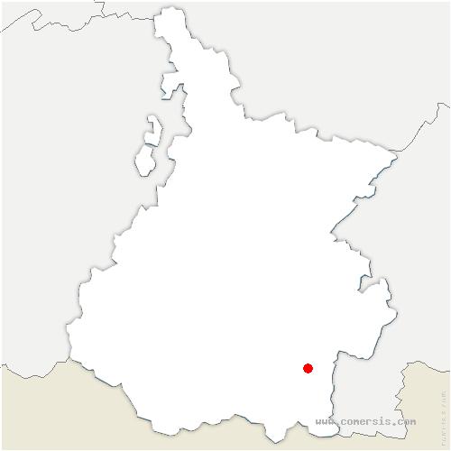 carte de localisation de Vielle-Louron