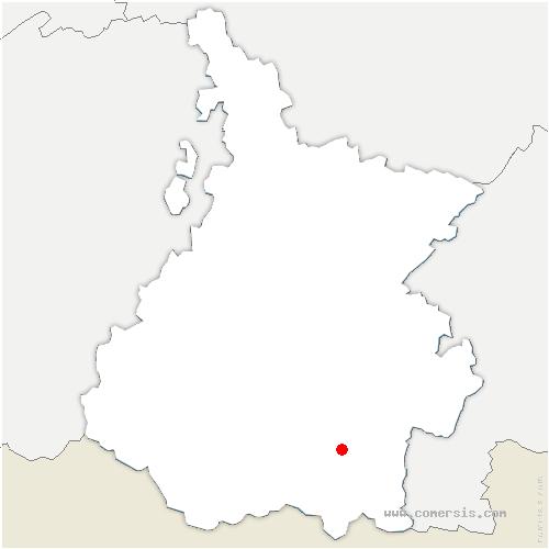 carte de localisation de Vignec