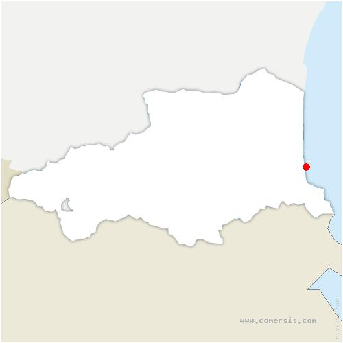 carte de localisation d'Argelès-sur-Mer