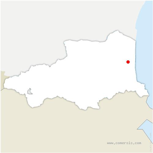 carte de localisation de Perpignan