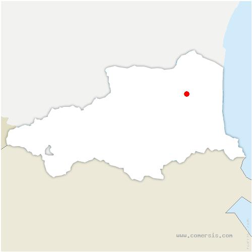 carte de localisation de Saint-Estève