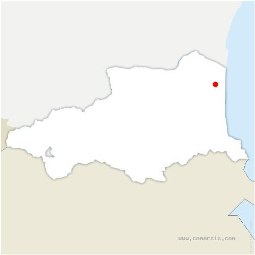 carte de localisation de Saint-Laurent-de-la-Salanque