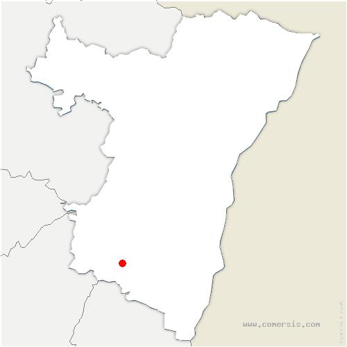 carte de localisation de Albé