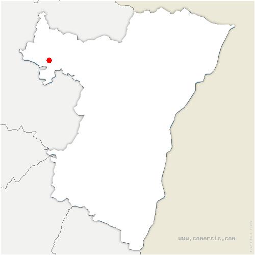 carte de localisation de Berg