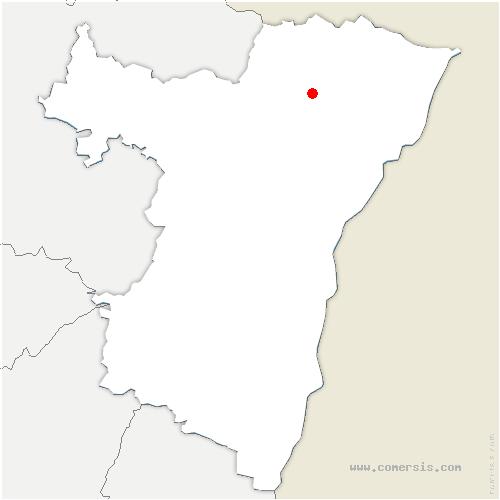 carte de localisation de Biblisheim