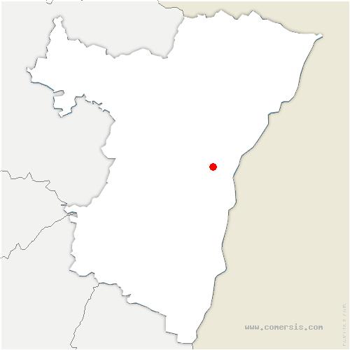 carte de localisation de Bischheim