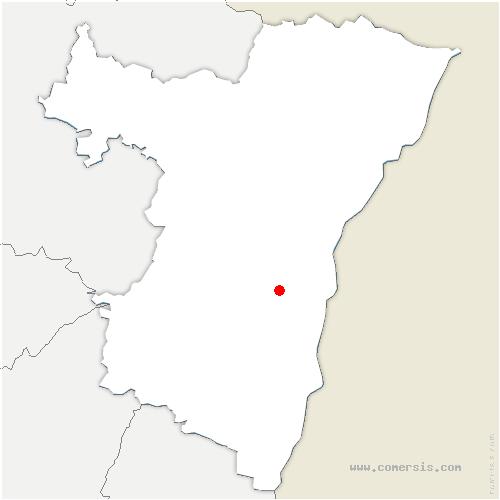 carte de localisation de Blaesheim