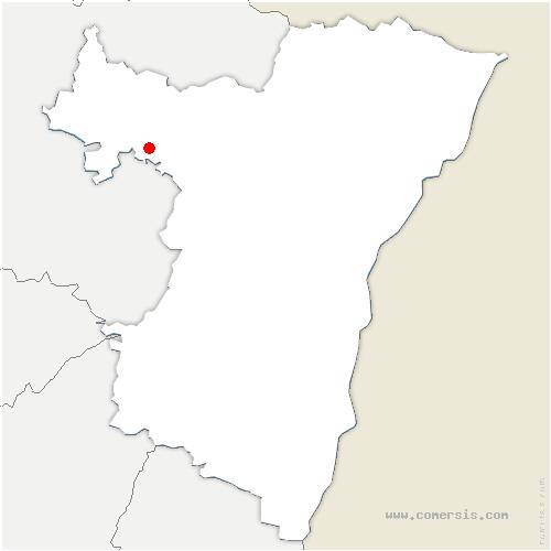carte de localisation de Bust