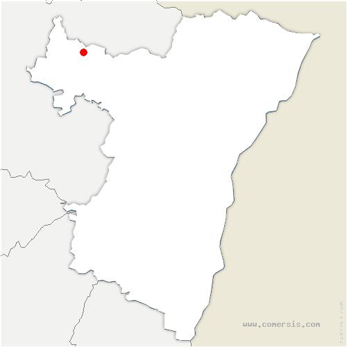 carte de localisation de Butten