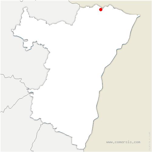 carte de localisation de Climbach
