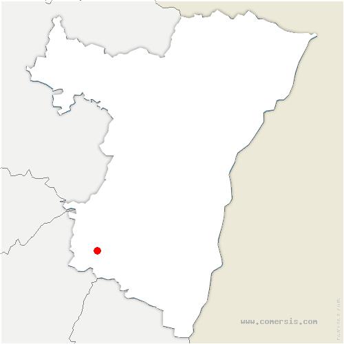 carte de localisation de Colroy-la-Roche