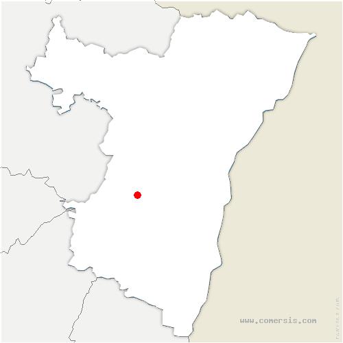 carte de localisation de Dinsheim-sur-Bruche