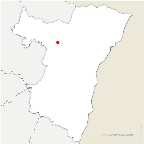 carte de localisation de Dossenheim-sur-Zinsel