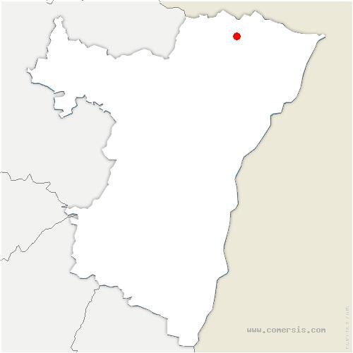 carte de localisation de Drachenbronn-Birlenbach