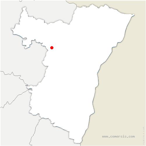 carte de localisation de Ernolsheim-lès-Saverne