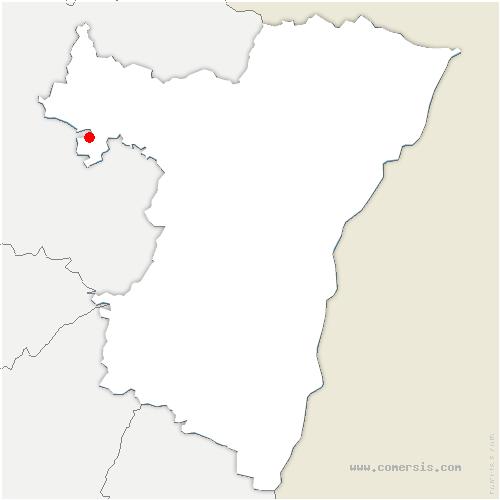 carte de localisation de Eschwiller