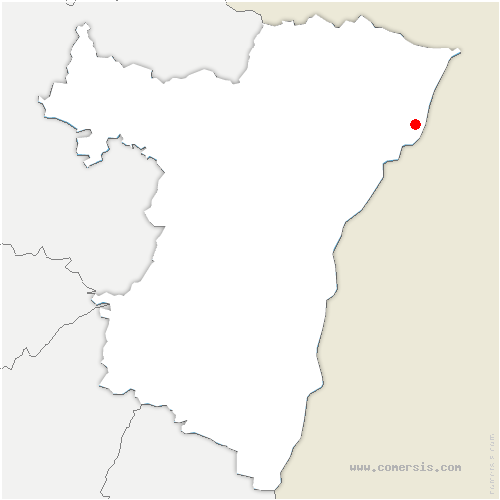 carte de localisation de Fort-Louis