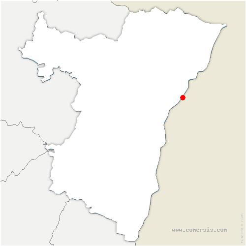carte de localisation de Gambsheim