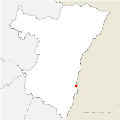carte de localisation de Gerstheim
