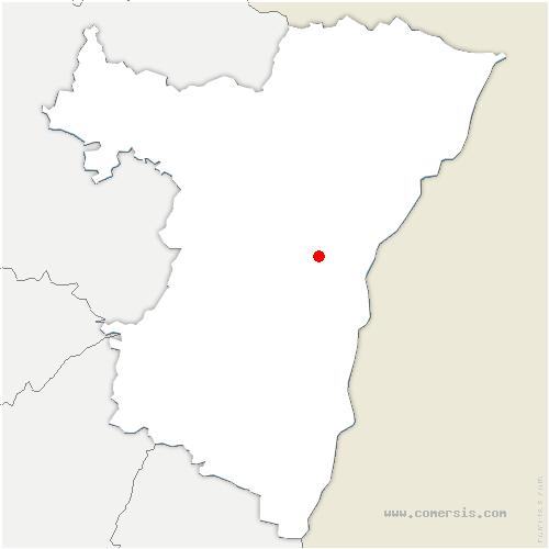 carte de localisation de Griesheim-sur-Souffel