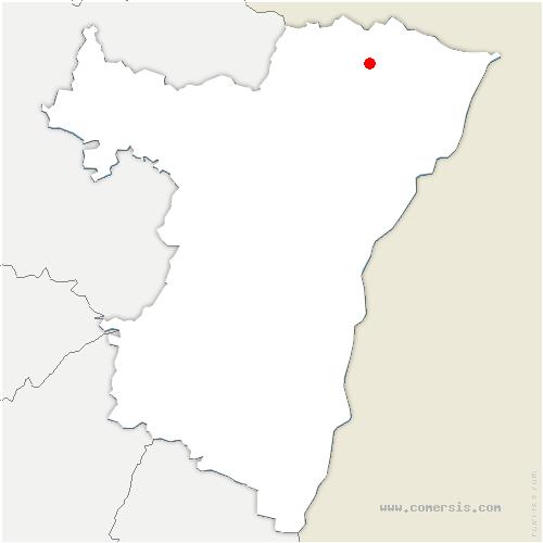 carte de localisation de Keffenach