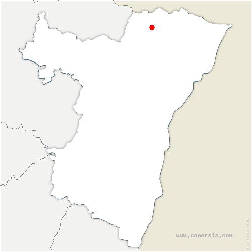 carte de localisation de Langensoultzbach