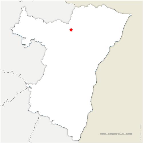 carte de localisation de Mulhausen