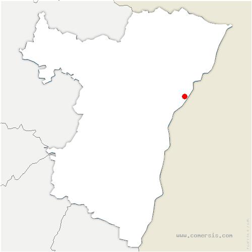 carte de localisation de Offendorf
