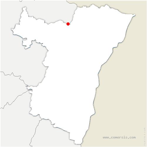 carte de localisation de Offwiller