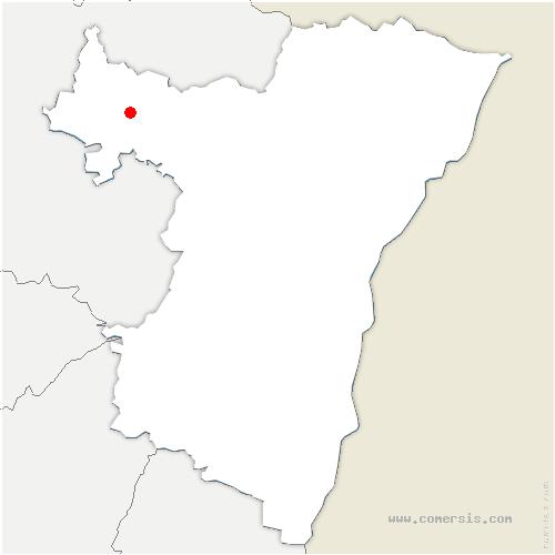 carte de localisation de Rexingen
