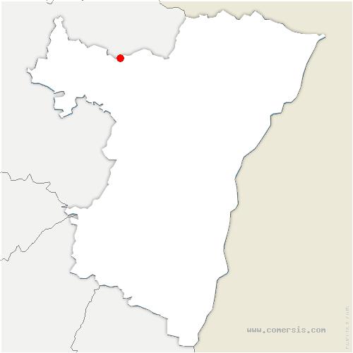 carte de localisation de Rosteig